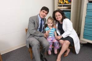 Drs. Yaman Eksioglu and Zulma Tovar-Spinoza with Lily Craparo.