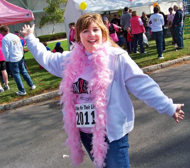 walker in pink