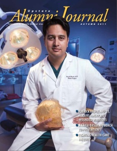 Patrick Basile, MD was featured on the cover of the Alumni Journal in spring 2011.