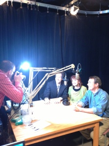 Photographer Rich Whelsky shoots the photo that appears on the main web page for HealthLink on Air.