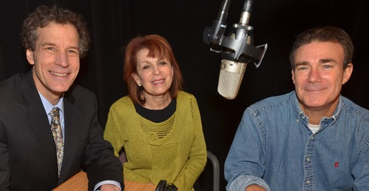 The HealthLink on Air team of psychologist Rich O'Neill Phd, host Linda Cohen and producer Steve Marks.