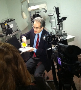 Anthony Andrews, MD, during the interview with YNN's Katie Gibas.