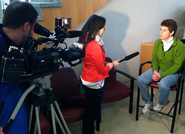 NewsChannel 9 interviews Sue Barnes, who has celiac disease, at Upstate University Hospital.