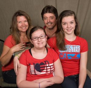 Ashlyn Ratliff, 11, of Brewerton was diagnosed with 22q this spring. She is pictured with her parents and sister.