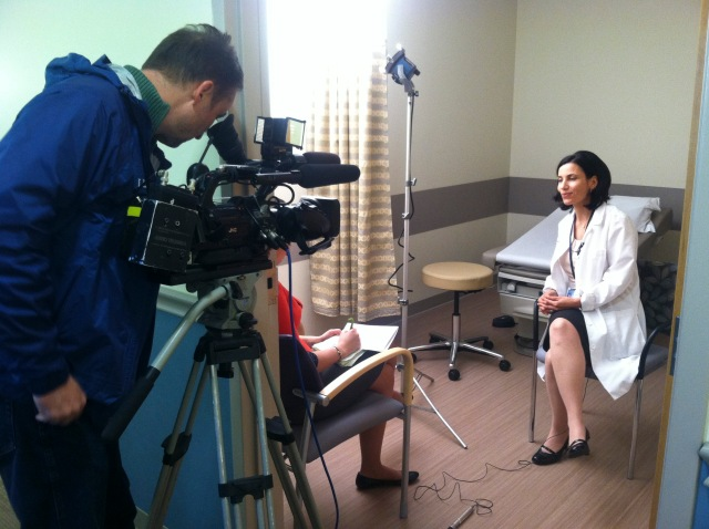 Dr. Jayne Charlamb, MD is interviewed. Photo by Kathleen Paice Froio.