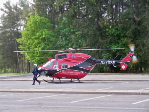 Mercy Flight was available for the photo shoot. Photo by Susan Keeter.