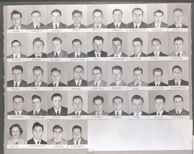 Dr. John Duggan, MD (second row, far left) was the first medical director for the Syracuse VA Medical Center. His son, Dr. David Duggan, MD is currently Upstate's College of Medicine dean and the medical director for Upstate University Hospital.