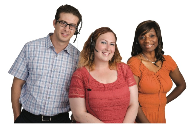 Among the Upstate Connect staff are Nimer Shehadeh, call center representative, Kari Fitzgerald, MD Direct manager, and Jewel Hunter, call center manager.