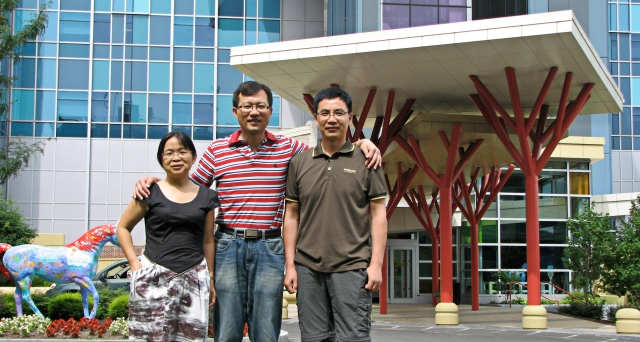 Visiting from China are Drs. Wenping Gong, Zhiyong Zhang and Dianxiang Hu.