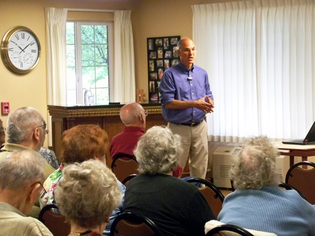 GEM Care director Jamie Ciaccio, MD, talked at Maple Downs, a senior residence in Fayetteville.