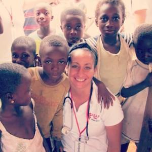 Nurse Kim Vuocolo in Ghana.