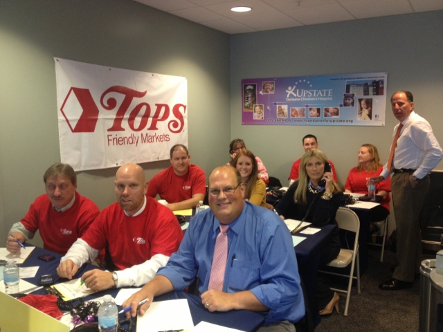 Volunteers from Tops staffed the Radiothon phone bank on Thursday.