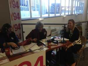 Amanda Griffin is interviewed on the air by Kathy Rowe.