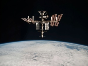 The International Space Station is about the size of a football field, says Dr. Joseph Dervay, MD, a NASA flight surgeon and graduate of Upstate Medical University.