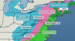 The Weather Channel has been covering the dangerous deep freeze that is expected to arrive overnight in Central New York.