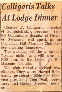 Feb. 1963, Herald-American: Charles gives a talk on the new hospital.