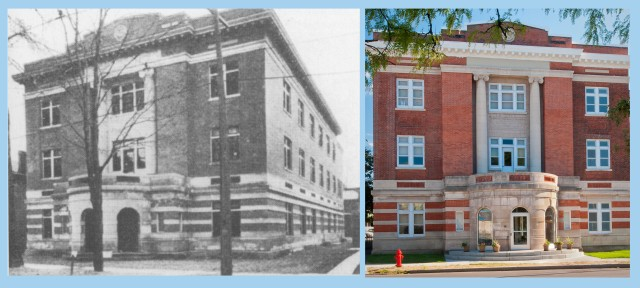 The building at 610 East Fayette Street, Syracuse prior to 1964  and in  2014.