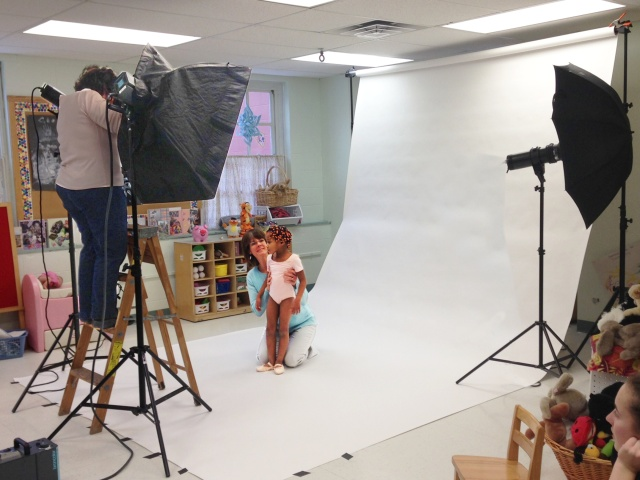 Photographer Susan Kahn shoots images for the winter issue of Upstate Health magazine. Photo by Amber Smith.
