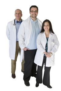 Poison Center toxicologists Michael Holland, MD, Ross Sullivan, MD, and Jeanna Marraffa, PharmD.