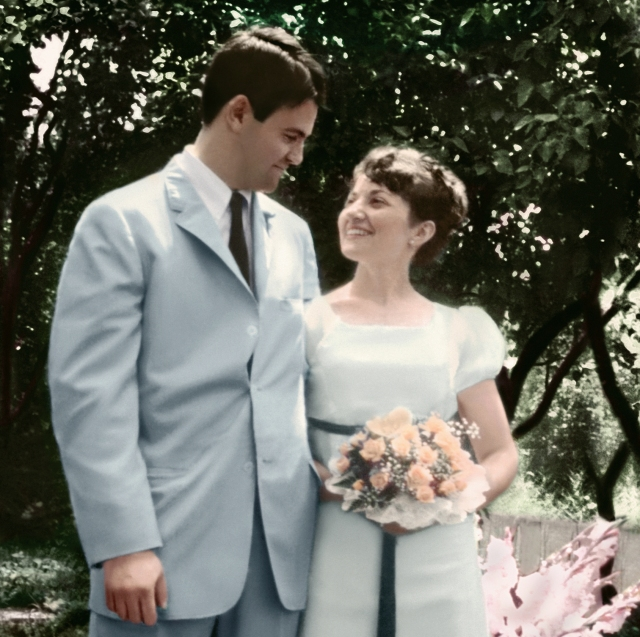Paul Berman MD and Yvonne Axtell met at the newly opened Upstate University. Pictured on their wedding day, June 1966