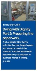 "Time Warner Cable News airs ""Dying with Dignity"" all week."