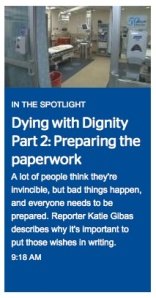 """Time Warner Cable News airs """"Dying with Dignity"""" all week."""