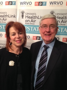 HealthLink on Air host, Linda Cohen with John Seffrin, MD, the chief executive office of the American Cancer Society.
