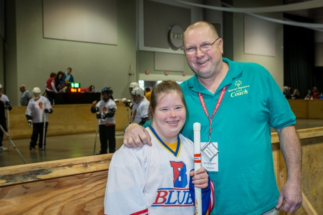 Stacey with her Dad.