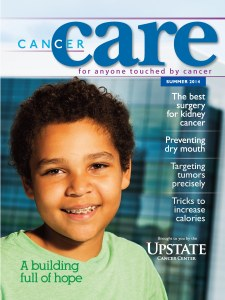 Zach Ellingson on the cover of the new Cancer Care magazine.