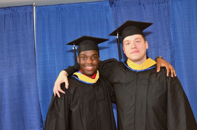 Adlin Noel and Stephen Johnson graduated from Upstate's respiratory therapy program.