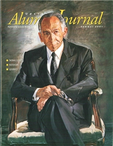 Dr. Szasz on the cover of Upstate's medical alumni journal, summer 2001. Portrait by Jerome Witkin.
