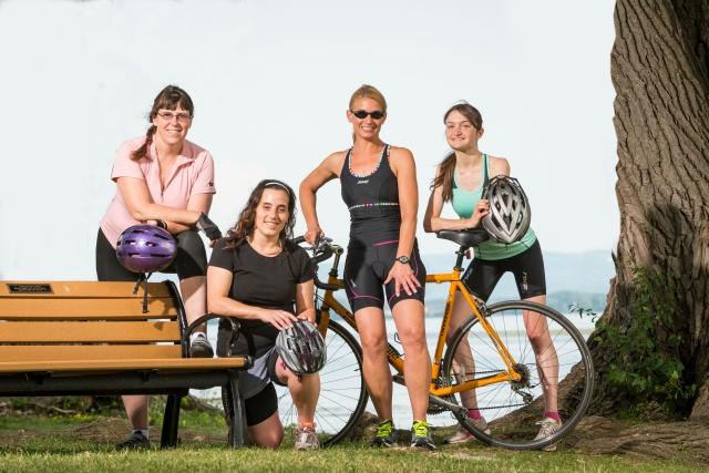 Kimberlee Garver, Catarina Walker, Wendi Burnette and Heather Nelson are members of Upstate's Women's Health Network IronGirl team.