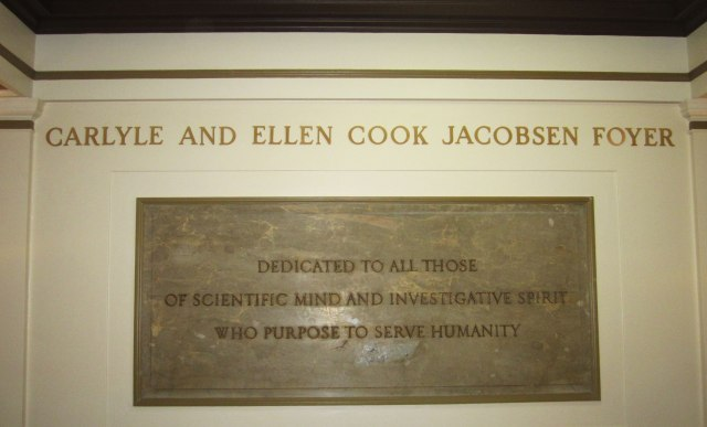 The Jacobsen Foyer in Weiskotten hall will be dedicated at 3 p.m. on Wednesday, November 12.