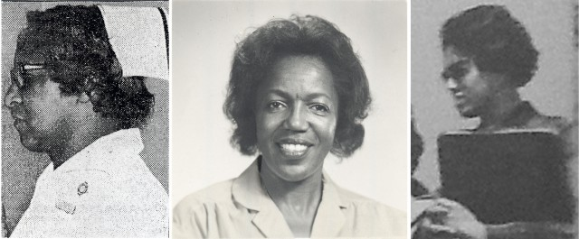 (Ada Prettyman was the first African American registered nurse in Syracuse. She was hired at Good Shepherd Hospital in 1944 and became a head nurse and clinical instructor at Upstate. Ruby Brangman, mother of Sharon Brangman MD, began working at Upstate in 1967, and became one of the first nurse practitioners in 1973.  Shirley Bacon's friend, Shirley Alton Edge, was a nurse manager at Upstate University Hospital for 25 years.
