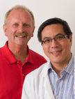 Edward St. George with neurosurgeon, Lawrence Chin, MD.