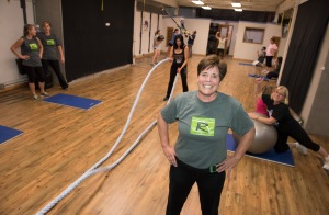 Roxanne Eyler trains at Ultimate Goal in Marcellus. PHOTO BY SUSAN KAHN