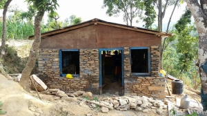 The first house to be rebuilt by the nonprofit campaign Mission Rebuild Nepal, in the village of SipaPokhare. (PHOTO COURTESY OF MISSION REBUILD NEPAL)