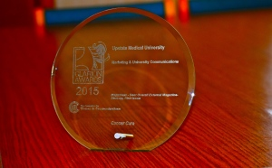 This is the 2015 Clarion Award from The Association for Women in Communications