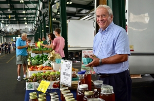 """Jack Edgerton of Manlius has a booth at the Central New York Regional Market. Look for him near the middle of the shed marked """"A,"""" selling honey and other products. (PHOTO BY DEBBIE REXINE)"""