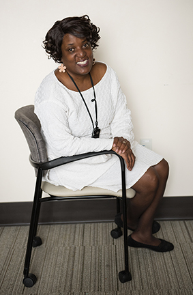 Chevelle Jones-Moore, social worker (PHOTO BY SUSAN KAHN)