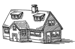 Home Detached House Real Estate Drawing