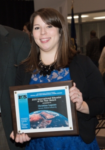 Upstate's Christina Lupone received the International Educator of the Year award.