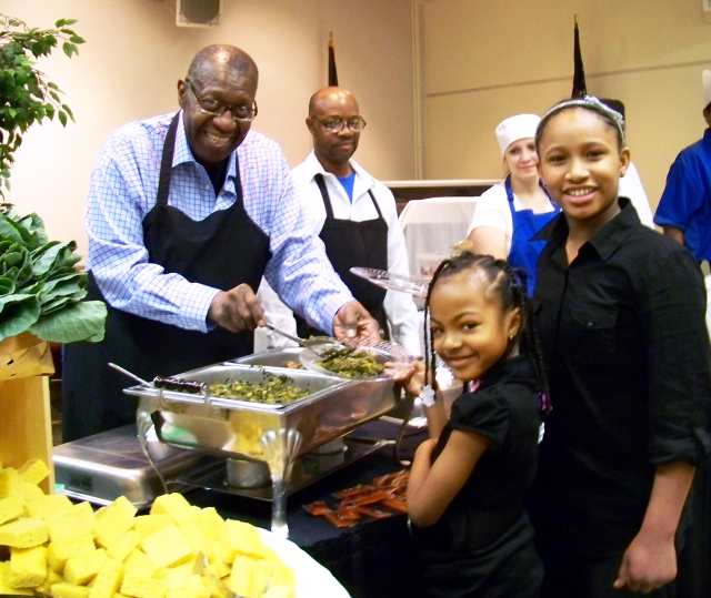Chef Blue (Will Lewis) is catering the should food luncheon which is free and open to the public. Photo by Susan Keeter.
