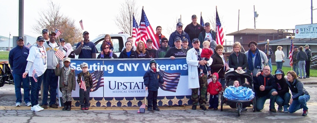 Upstate veterans and friends at the Central New York Veterans Day parade in 2012. (PHOTO BY SUSAN KEETER)