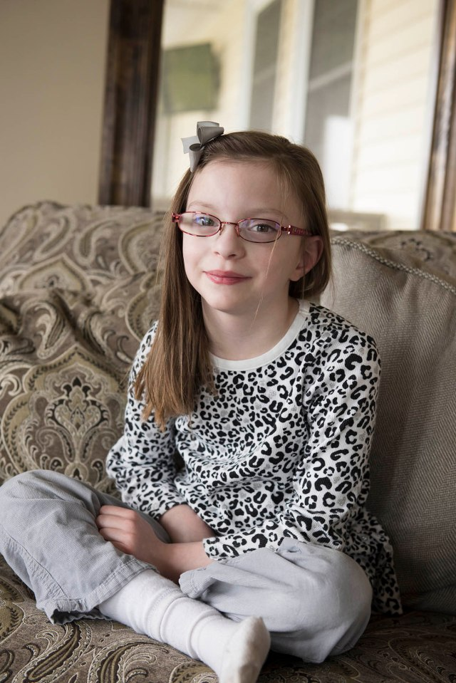 Elyse Clough has had surgery six times related to her hydrocephalus, a condition in which fluid can build up to dangerous levels in the brain. (PHOTO BY SUSAN KAHN)