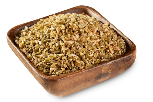 Freekeh is one of the whole grains used in this salad.