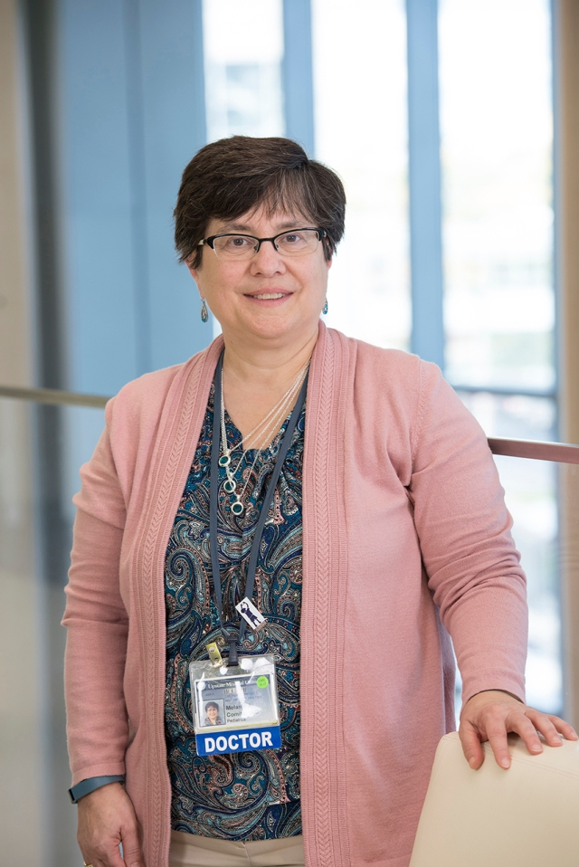 Melanie Comito, MD, Upstate's chief of pediatric hematology and oncology. (PHOTO BY SUSAN KAHN)