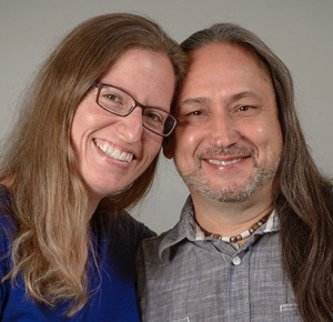 Young and his wife, Rebecca Armstrong Young, PhD. (PHOTO BY ROBERT MESCAVAGE)d
