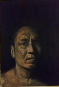 """This painting was made by Young's wife about five months after his surgery. She took a photo of him when he came inside after working outdoors all morning. """"I remember seeing him and thinking how grateful I was that he was well enough to be active again,"""" she explains. """"To me, he was looking more alive than he had been in almost two years. I wanted to capture that moment."""""""