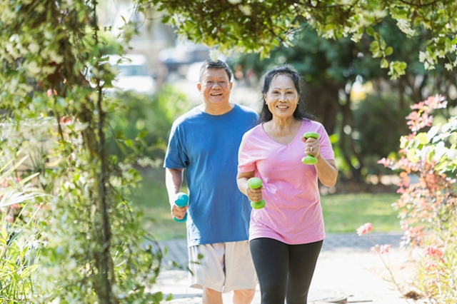 Appropriate weight-bearing and muscle-strengthening exercises help improve bone density.
